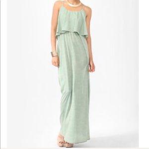 Forever 21 Green Long Maxi Dress Size Medium M